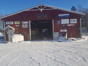 En bild på Lundgrens bygg i Römossen