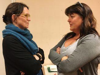 En bild på Maria Larsson och Ulla Raslöv
